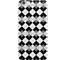 Black and White Argyle Plaid Checks Pattern iPhone Case/Skin