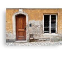 Old house facade. Canvas Print