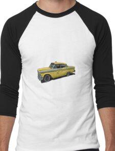 Vintage Cab Taxi  Men's Baseball ¾ T-Shirt
