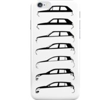 Silhouette Volkswagen VW Golf Mk1-Mk7 Left iPhone Case/Skin