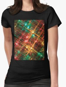 christmas tree lights Womens Fitted T-Shirt
