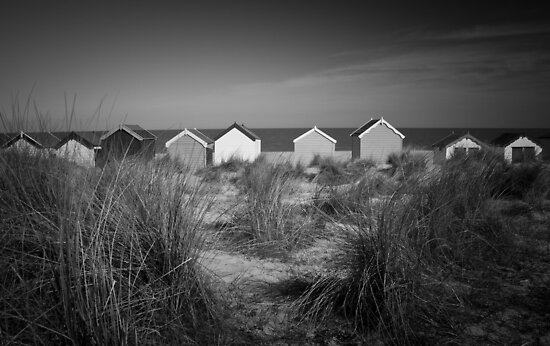 Beach Huts and Sand Dunes - Southwold by Suffolk Photography