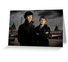 Sherlock Retro Greeting Card