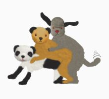 Funny, offensive Sooty,Sweep and Sue by Sevetheapeman