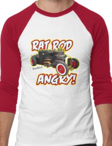 Rat Rod Angry Men's Baseball ¾ T-Shirt