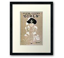 Vintage poster - Girls Framed Print