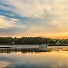 Boat in Maine by J. Day