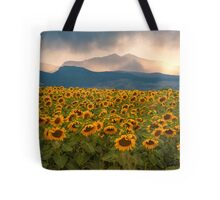 Sunflower Storm Tote Bag