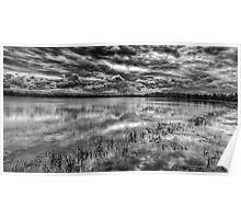 Storm Over The Mill Pond  Poster