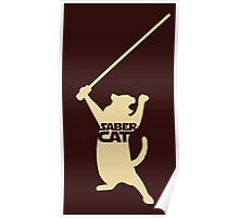Saber Cat Poster