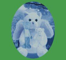 Ƹ̴Ӂ̴Ʒ LOVE AND AFFECTION FROM A BEARY SPECIAL ANGEL TEE SHIRT BLUE FOR BOYS GUARDIAN ANGEL BEAR Ƹ̴Ӂ̴Ʒ One Piece - Short Sleeve