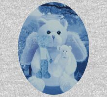 Ƹ̴Ӂ̴Ʒ LOVE AND AFFECTION FROM A BEARY SPECIAL ANGEL TEE SHIRT BLUE FOR BOYS GUARDIAN ANGEL BEAR Ƹ̴Ӂ̴Ʒ by ╰⊰✿ℒᵒᶹᵉ Bonita✿⊱╮ Lalonde✿⊱╮