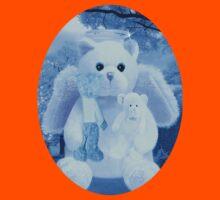 Ƹ̴Ӂ̴Ʒ LOVE AND AFFECTION FROM A BEARY SPECIAL ANGEL TEE SHIRT BLUE FOR BOYS GUARDIAN ANGEL BEAR Ƹ̴Ӂ̴Ʒ Kids Clothes