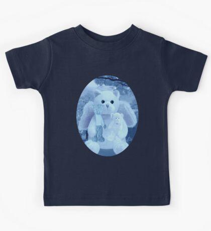 Ƹ̴Ӂ̴Ʒ LOVE AND AFFECTION FROM A BEARY SPECIAL ANGEL TEE SHIRT BLUE FOR BOYS GUARDIAN ANGEL BEAR Ƹ̴Ӂ̴Ʒ Kids Tee