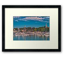 Summertime Marina Framed Print