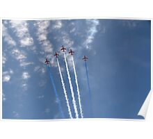 The Red Arrows V Formation Poster