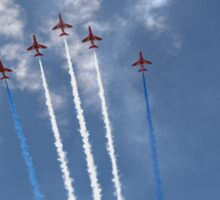 The Red Arrows V Formation Sticker
