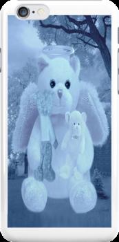 ☀ ツHUGS AND AFFECTION FROM A BEARY SPECIAL ANGEL IPHONE CASE VERSION TWO☀ ツ  by ✿✿ Bonita ✿✿ ђєℓℓσ