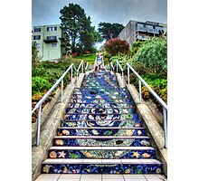 Mosaic Steps Photographic Print