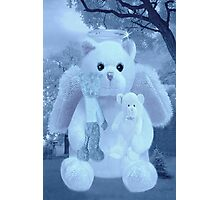 ❀◕‿◕❀HUGS,A KISS AND AFFECTION FROM A BEARY SPECIAL ANGEL CARD/PICTURE VERSION TWO❀◕‿◕❀ Photographic Print