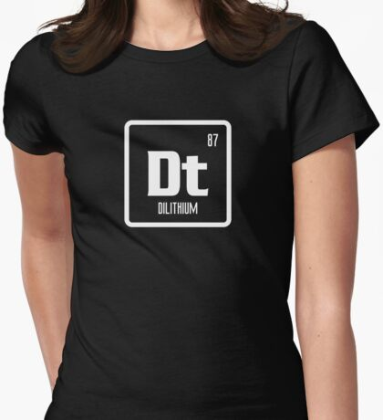 Element of Dilithium (B/W) Womens Fitted T-Shirt