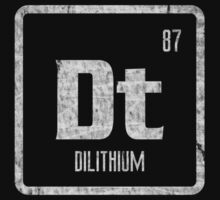 Element of Dilithium (B/W) (Grunge) by justinglen75
