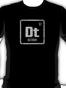 Element of Dilithium (B/W) (Grunge) T-Shirt