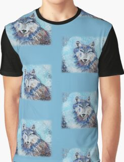 Snow Wolf - Animal Art by Valentina Miletic Graphic T-Shirt