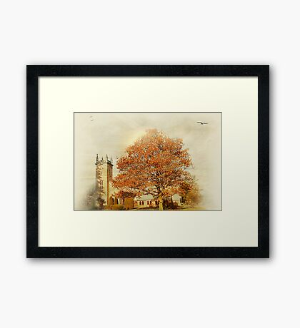Small town church Framed Print