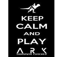 KEEP CALM AND PLAY ARK white 2 Photographic Print