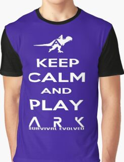 KEEP CALM AND PLAY ARK white 2 Graphic T-Shirt