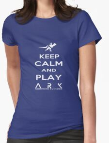 KEEP CALM AND PLAY ARK white 2 Womens Fitted T-Shirt