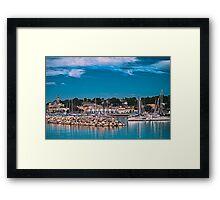 Summertime Marina in Port Framed Print