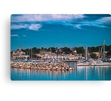 Summertime Marina in Port Canvas Print