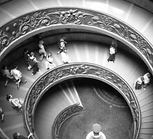 Spiral Staircase - Leaving the Vatican by BarbBPhoto