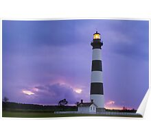 Lighthouse at Dawn - Bodie Island Light in NC Poster