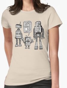 FEAR ME! Robot Kid Womens Fitted T-Shirt