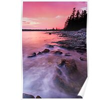 Acadia National Park sunset Poster