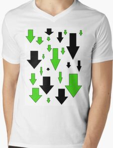 Down Arrows Mens V-Neck T-Shirt