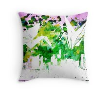 Origami Birds on Ink Throw Pillow