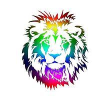Colourful Lion Head Art by DIMIART