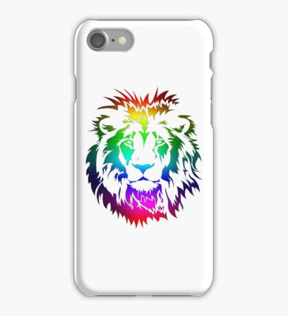 Colourful Lion Head Art iPhone Case/Skin