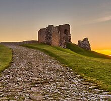 DUFFUS THE CASTLE AND ROAD AT SUNNSET by JASPERIMAGE