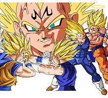 Majin Vegeta vs Goku by MajinTweek
