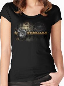 Urban Music Design Women's Fitted Scoop T-Shirt