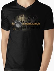Urban Music Design Mens V-Neck T-Shirt