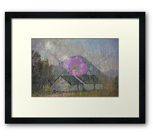 Blackrock Cottage and The Buachaille Framed Print