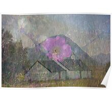 Blackrock Cottage and The Buachaille Poster