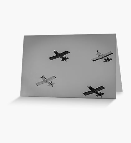 Four Planes. Greeting Card
