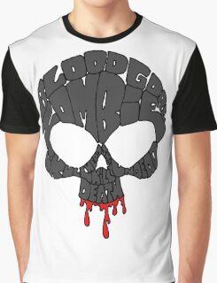 Word Skull Black Graphic T-Shirt